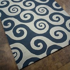 I pinned this Wave Hello Rug from the Coastal Living Rugs event at Joss and Main!