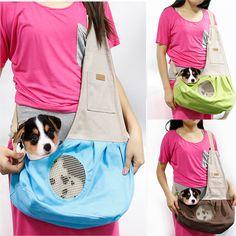 Nature Canvas Single Shoulder Dog Cat Carrier Pet Sling Bag outdoor puppy carrier shoulder bags breathable drop shipping