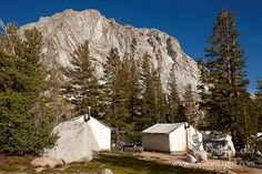 High Sierra Camps. Fletcher Peak, Vogelsang Camp
