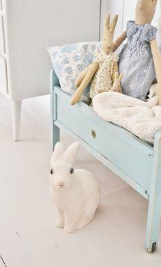 Maileg rabbits with Egmont Rabbit night light