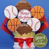 Happy Birthday Sports Cookie Bouquet - 7 Piece