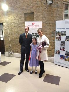 TRH with Hannah, who presented a birthday posy to The Countess. #HappyBirthdayHRH