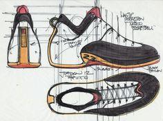 Air Jordan XII concept sketch, 1995