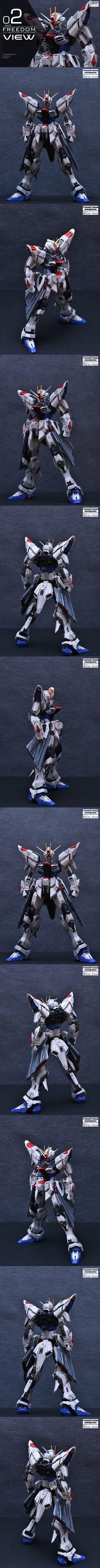 [Infinite_Dimension] 1:100 프리덤 2.0 컨버전킷(레진), 공식 도색 작례 공개! : 네이버 블로그 Gundam Toys, Gundam Art, Gundam Tutorial, Mythological Monsters, Frame Arms, Gundam Model, Mobile Suit, Scale Model, Captain America