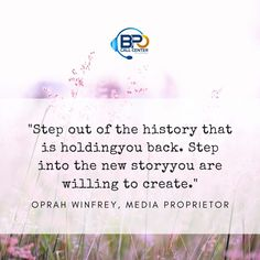 Don't let your past dictate your future. Get clear about what you really want and what you need to do to get it and stay focused on that. Don't Let, Let It Be, Stay Focused, Oprah Winfrey, Daily Motivation, Daily Quotes, You Really, Daily Inspiration, Motivationalquotes
