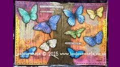 #pawgustart #Mixed Media #Art Journaling Butterflies.