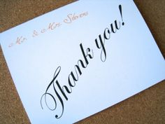 Personalized wedding Thank You cards thank you by PaperLovePrints, $14.00