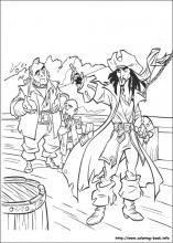 Piráti z Karibiku omalovánky na Coloring-Book.info