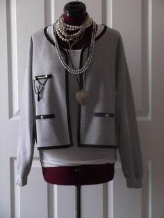 Sweatshirt Jacket. $36.43, via Etsy.