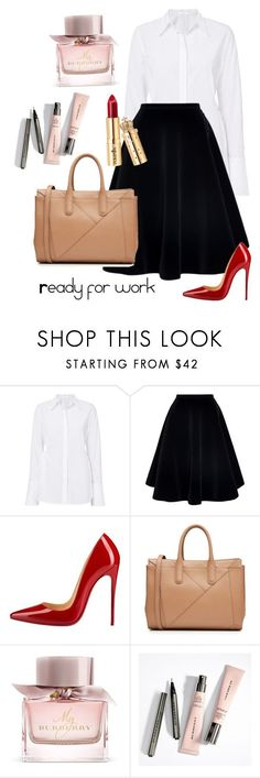 """""""Simple work outfit"""" by ames-ym ❤ liked on Polyvore featuring A.L.C., N°21, Christian Louboutin, MaxMara and Burberry #workoutfits"""