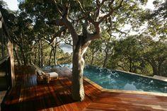 Pool with a view at Pretty Beach House, Bouddi Peninsula, in Australia.