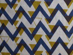 Stoff retro - Zickzack - ein Designerstück von Mai-Lu bei DaWanda Mai, Designer, Quilts, Blanket, Contemporary, Etsy, Rugs, Home Decor, Natural Colors