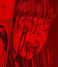illustration 𖡎*・༓ 𝐩𝐢𝐧: 𝐛𝐥𝐚𝐜𝐤𝐢𝐬𝐥𝐨𝐯𝐞𝐥𝐲 Red Aesthetic, Aesthetic Grunge, Aesthetic Pictures, Aesthetic Anime, Arte Horror, Horror Art, Manga Gore, Japanese Horror, Junji Ito