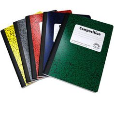 Walmart: Colored Marble Composition Book, Wide Ruled, 100 Sheet, 5 pack - in store 6th Grade School Supplies, Office And School Supplies, Office Supply Organization, Storage Organization, Storage Ideas, Organizing, Exercise Book, Money Saving Mom, Interactive Notebooks