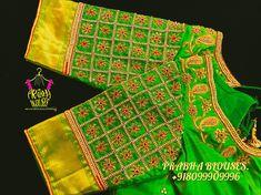 Choli Blouse Design, Pattu Saree Blouse Designs, Hand Work Blouse Design, Simple Blouse Designs, Blouse Designs Silk, Bridal Blouse Designs, Simple Designs, Bridal Sarees South Indian, Maggam Work Designs
