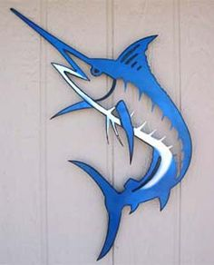 marlin silhouette - Marc Christen - Welcome to the World of Decor! Small Wood Projects, Metal Projects, Art Projects, Metal Fish, Wood Fish, Fish Wall Art, Fish Art, Arte Bob Marley, Deco Marine