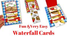 Waterfall Cards Fun & Easy to Make! Fancy Fold Cards, Folded Cards, Birthday Card Design, Birthday Cards, Waterfall Cards, Waterfall Twist, Waterfall Design, Craft Stash, Card Making Techniques