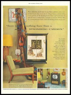 Saturday Evening Post ad for Stromberg-Carlson TV 1953