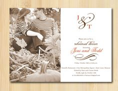 Rehearsal Dinner Invitations, we could use the one photo we have of you guys.