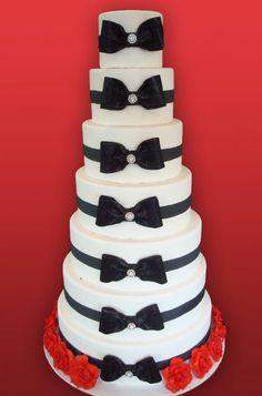 Wedding Cakes NJ - Black Bow and Broach Custom Cake