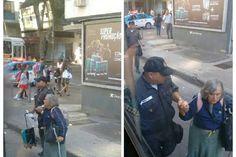 Foto de policial ajudando idosa a embarcar em ônibus faz sucesso na web - Rio - O Dia