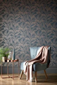 , Mozambique x Glimmer Wallpaper Roll , Emulating traditional woodblock designs, our Mozambique print features metallic palm leaves in a pared-back colour palette. Palm Leaf Wallpaper, Rose Gold Wallpaper, Bold Wallpaper, Wallpaper Roll, Classy Wallpaper, Bedroom Wallpaper, Tapete Gold, Grey Palette, Brick Design