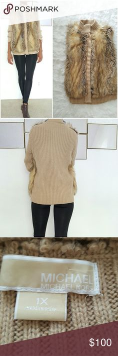 Faux Fox Fur Long Sleeves Sweater Faux Fox Fur Long Sleeves Sweater Brown And Tan Jacket.Very warm and trendy yet cool looking jacket with boots and a pair of Jeans. Michael Kors Sweaters