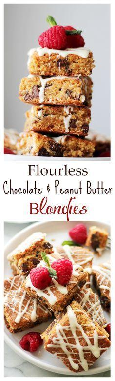 Flourless Chocolate Flourless Chocolate Peanut Butter Blondies - Thick ...