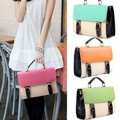 LA Stock 4Colors Womens Satchel Handbag Classic Briefcase Hobo Shoulder Hobo bag  US $16.99