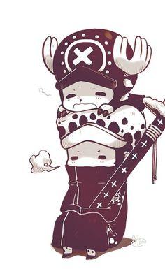 Chøpper et LaW ⛵️ ~  Chopper Tony Tony  {Médecin de l'Équipe de Luffy M.D.} • ⛵️ Law Tafalgar  {Capitaine et Médecin} ~ ⚓️ One Piece ⚓️