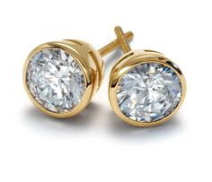 Bezel Cup Earrings in 18k Yellow Gold | Your chance to win a $1000 gift card…