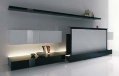 Hide Expanding TV Screen For Modern Home Theater Design By Acerbis