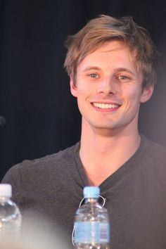 Bradley James at the exclusive Merlin Q panel today at Perth Supanova. Rei Arthur, Merlin And Arthur, James Arthur, Watson Sherlock, Sherlock John, Jim Moriarty, Sherlock Quotes, Colin Bradley, Bradley James