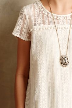 Pommed Lace Top - anthropologie.com