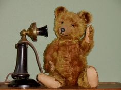"Bing Antique Teddy Bear 18 1/2"" approx 1920 #Bing"