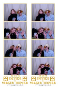 Matrimonio Davide e Maria Teresa, strip partyphotobooth, photobooth in Rome