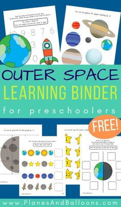 Preschool space activities learning binder FREE printable Fun space activities binder for preschoolers – free printable solar system, planets perfect for space theme lesson plans. Writing Activities For Preschoolers, Space Theme Preschool, Space Activities For Kids, Printable Activities For Kids, Preschool Weekly Themes, Preschool Writing, Preschool Printables, Toddler Activities, Planets Preschool