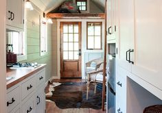 This tiny home's entryway actually feels pretty spacious.