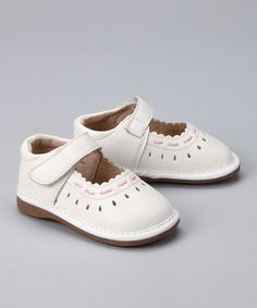 White Karen Squeaker Mary Jane on #zulily #shoes #kids #girls #fashion