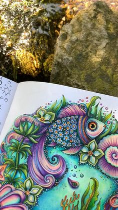 Forest Coloring Pages, Coloring Book Art, Mandala Coloring, Colouring, Arte Shabby Chic, Cute Flower Drawing, Prismacolor, Sacred Geometry Tattoo, Johanna Basford Coloring Book