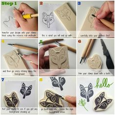 Make your own rubber stamps