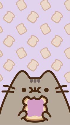 Cute Wallpaper Backgrounds, Wallpaper Iphone Cute, Cute Cartoon Wallpapers, Iphone Backgrounds, Galaxy Wallpaper, Chat Kawaii, Kawaii Cat, Cat Wallpaper, Kawaii Wallpaper