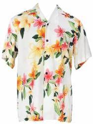 Two Palms - Nadina - Hawaiian Aloha Shirt - White