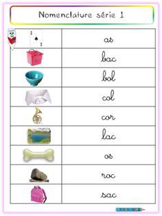 Cartes Nomenclature - Montessori-