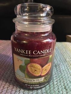 "**NEW YANKEE CANDLE ""BRAZILIAN PASSION FRUIT"" 22OZ #YankeeCandle"