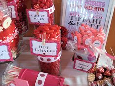 Bridal Shower, Valentine Candy Buffet