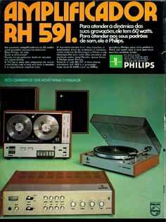 PHILIPS RH 591 Integrated Amp GA 202 Electronic Turntable N4500 Tapedeck