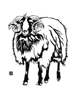 sheep, my new year card 2015