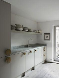 Oversized Muuto Cabinet Pulls in Faye Toogood Kitchen/T Magazine