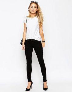 ASOS TALL 'Sculpt Me' Premium Jeans in Clean Black – Clean black